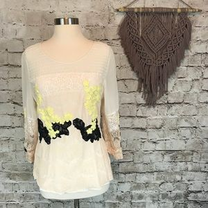 Gimmicks by BKE Floral Lace Blouse
